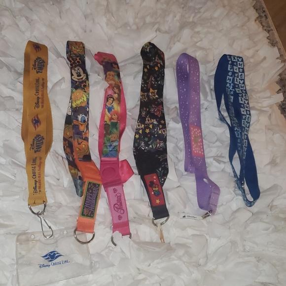 Disney Pin Lanyard Necklaces Set of 6